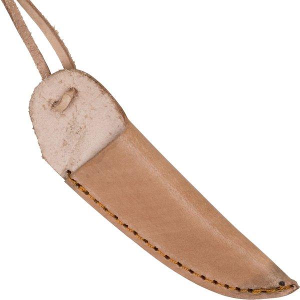 Couteau de cou (ancien) médiéval avec fourreau