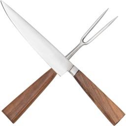 Cuchillo y tenedor del siglo XVI con funda.