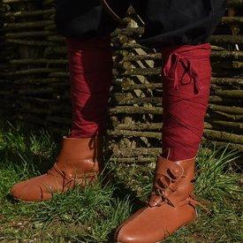 Envoltura de las piernas con motivo de espiga, rojo