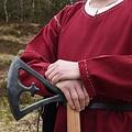 Tunika Kragelund handgenähten Finish, weinrot