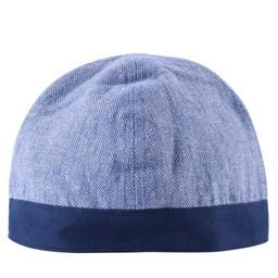 Birka kapelusz jodełka motyw, niebieski