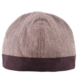 Birka hat herringbone motif, brown