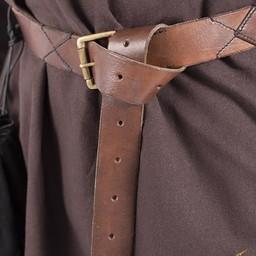 X-skórzany pas, brązowy