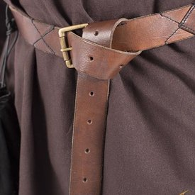 Epic Armoury Leather X-belt, brown