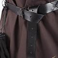 Epic Armoury Cintura X in pelle, nera