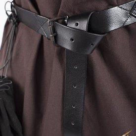 Epic Armoury Leather X-belt, black