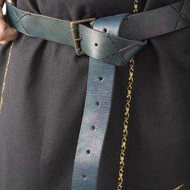 Epic Armoury Leather X-belt, blue
