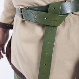 Cinturon X de cuero, verde