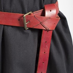 Leather X-belt, red