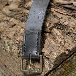 Cinturón de cuero Aruthia, negro.