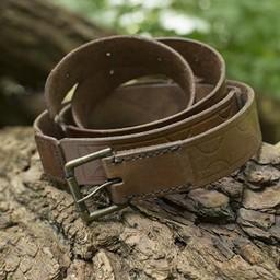 Cinturón de cuero Aruthia, marrón.