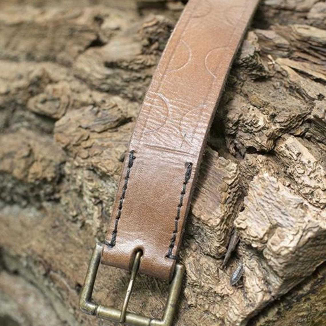 Epic Armoury Cinturón de cuero Aruthia, marrón.
