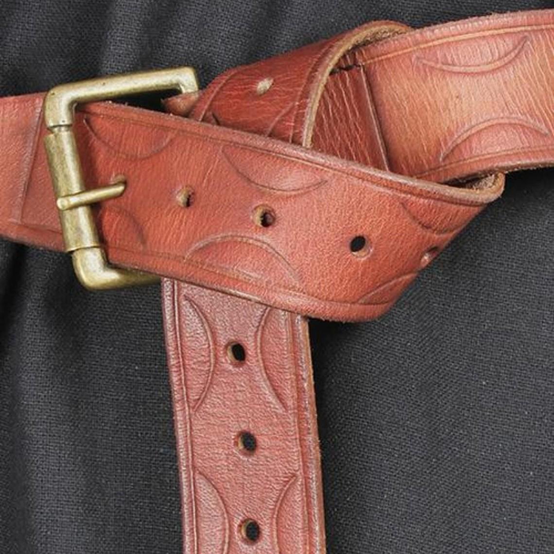 Epic Armoury Cintura in pelle Aruthia, marrone