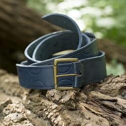 Cinturón de cuero Aruthia, azul.