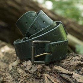Epic Armoury Cintura in pelle Aruthia, verde