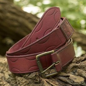 Epic Armoury Cinturón de cuero Aruthia, rojo.
