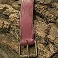 Epic Armoury Ceinture en cuir Aruthia, rouge