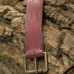 Cinturón de cuero Aruthia, rojo.