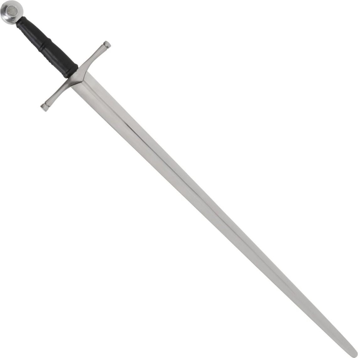 Espada de mano y media Alessio, lista para la batalla con vaina