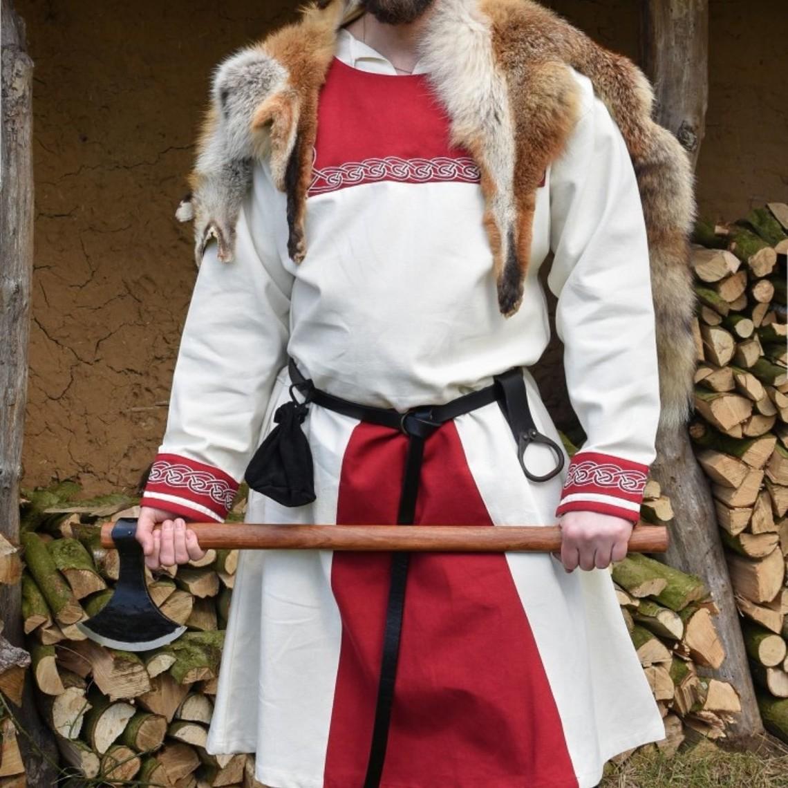 Túnica vikinga Viborg, rojo natural