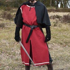 Medieval surcoat Rodrick, rød-naturlige