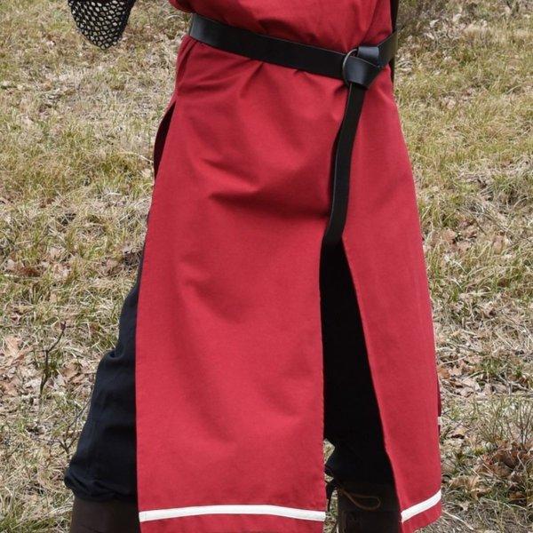 Medieval surcoat Rodrick, red-natural
