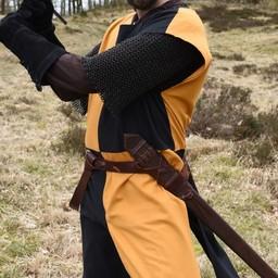 Medieval surcoat Rodrick, orange-black