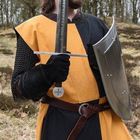 Soprabito medievale Rodrick, arancio-nero