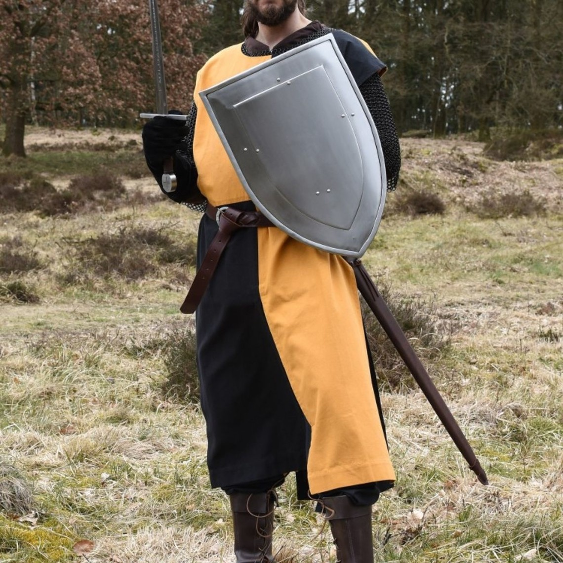 Abrigo medieval Rodrick, naranja-negro