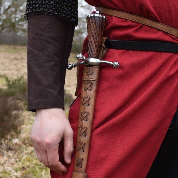 Medieval surcoat Rodrick, sort-rød