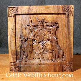 Parete di legno decorazione Odin