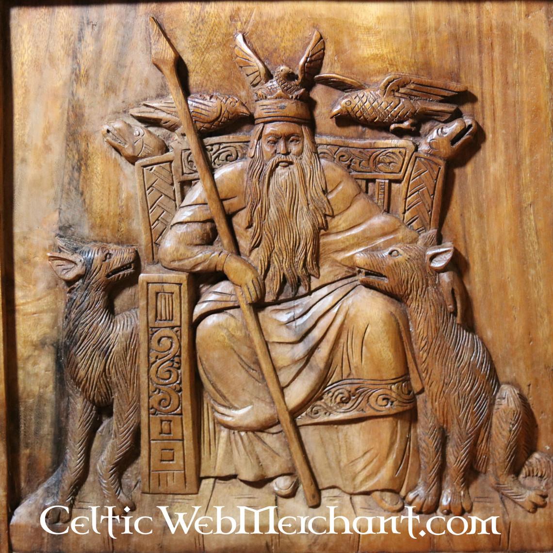 Pared de madera decoración de Odin