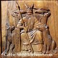 Hölzerne Wanddekoration Odin