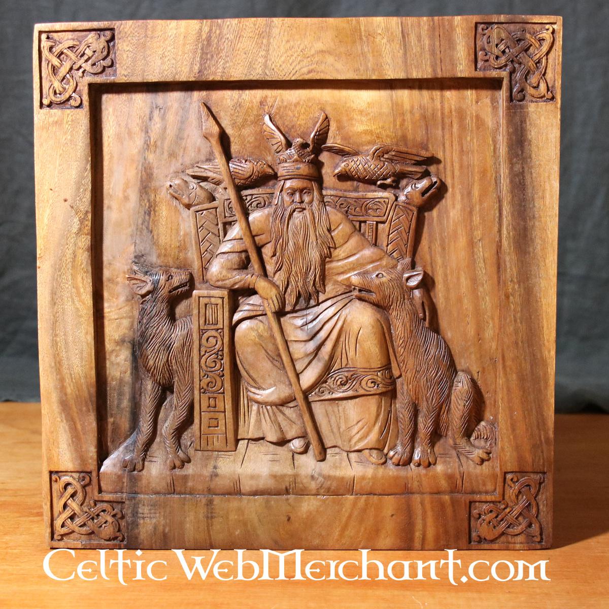 Décoration murale en bois Odin