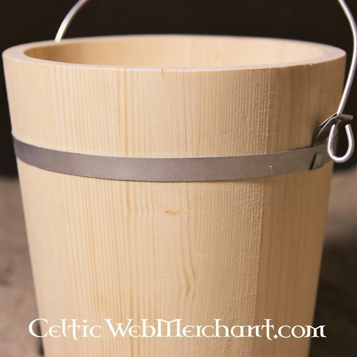 Houten emmer 10 liter