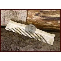 DAMAST stål hals kniv med træ greb