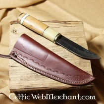 Handtag skiva för kniv, damast stål