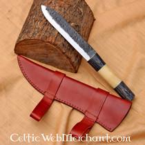 cinturino in pelle con fibbie celtica, marrone