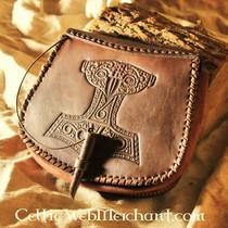 Leather belt strip brown 4 x 180-190 cm