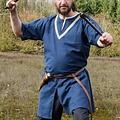 Birkatuniek Knut, korte mouwen, blauw