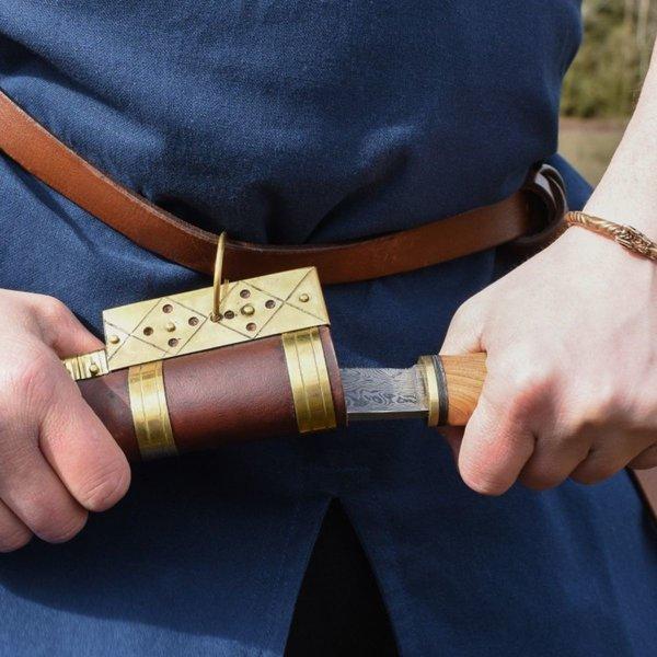Birka tunika Knut, krótkie rękawy, niebieski