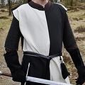Mittelalterliche surcoat Rodrick, natürlich schwarz