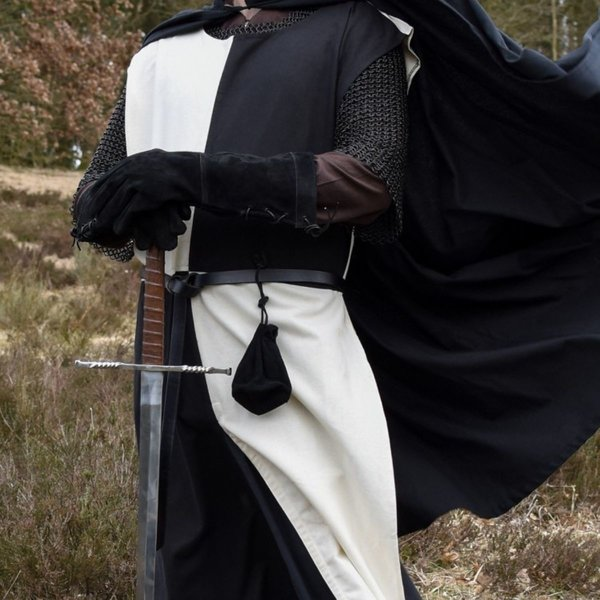 Medieval surcoat Rodrick, natural-black