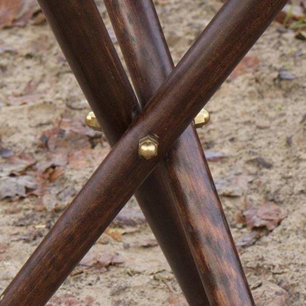 Epic Armoury Wood-leather folding stool