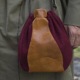 Epic Armoury Wollledertasche, rotbraun