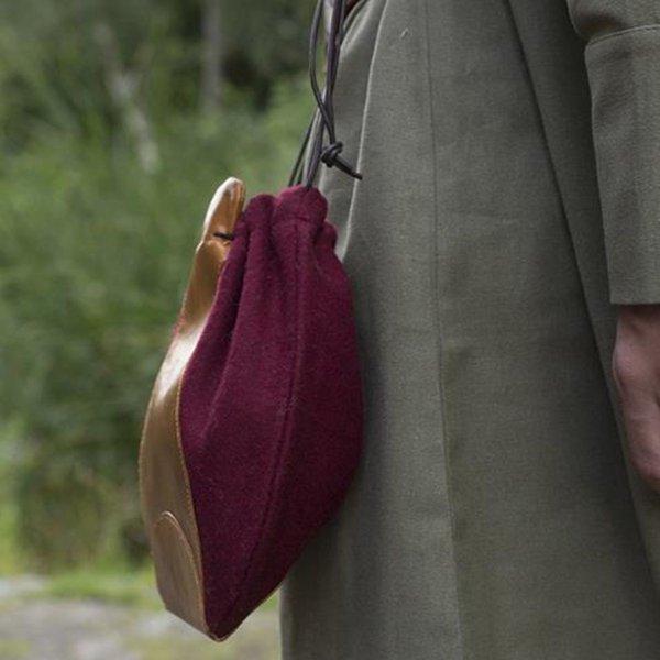 Epic Armoury Uldlæder taske, rødbrun