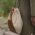 Epic Armoury Wol-leren buidel, beige-bruin