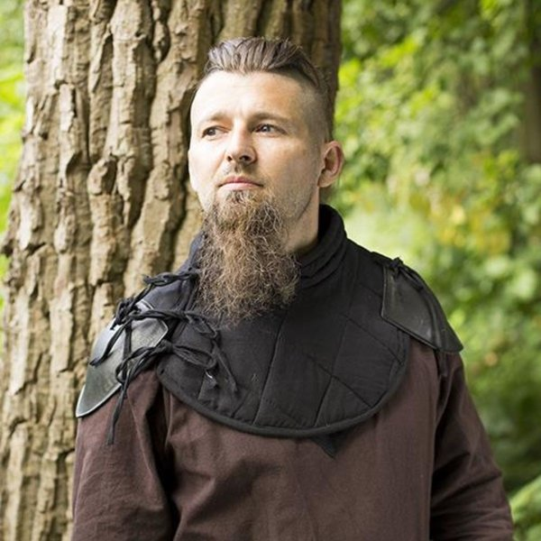 Epic Armoury RFB Padded collar with pauldrons, black