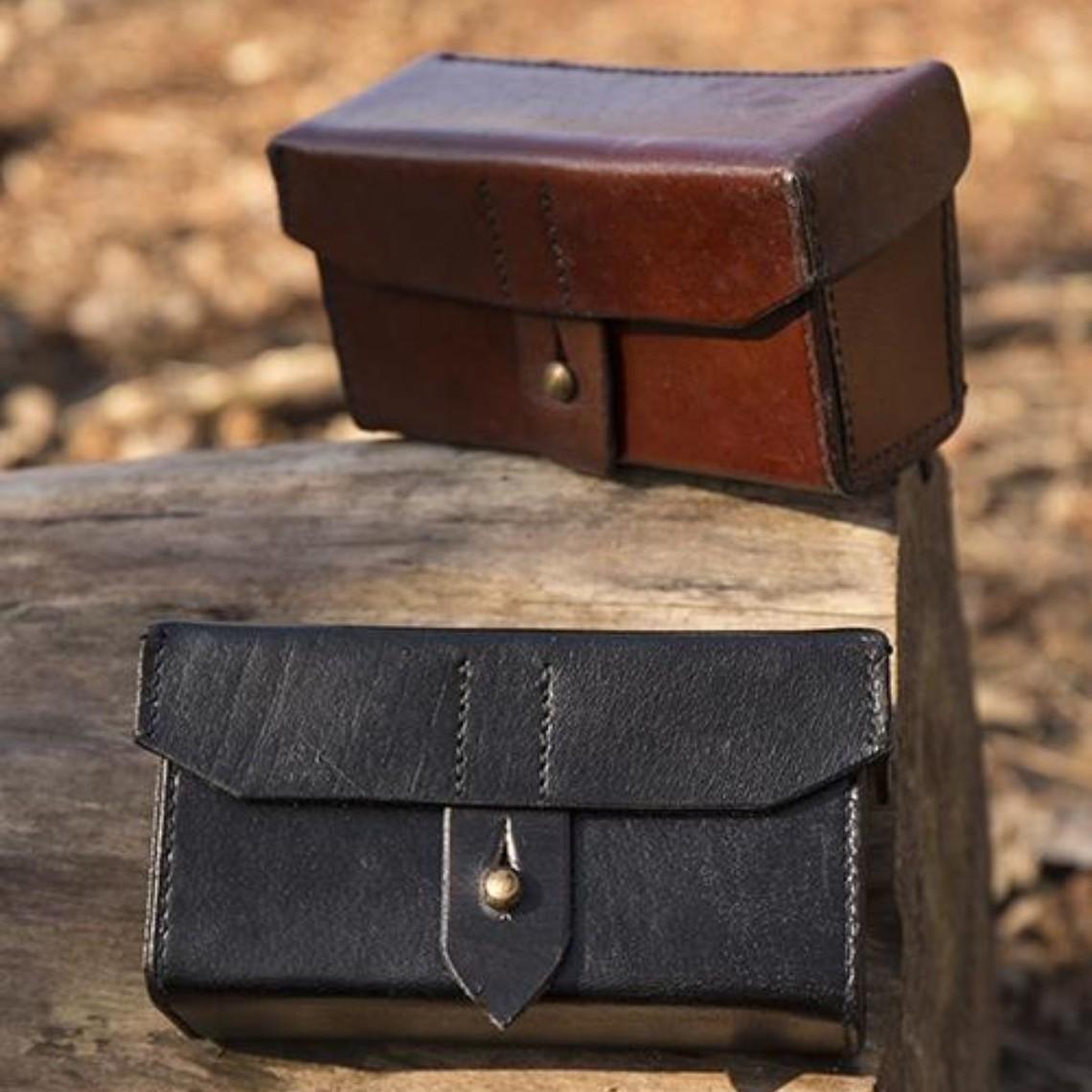 Epic Armoury Imperial læder taske, brun