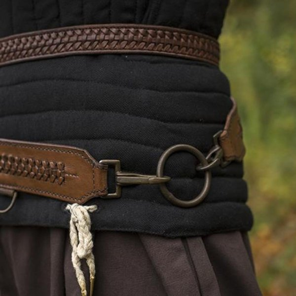 Epic Armoury Braided sword belt, brown